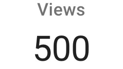 500 YouTube Channel Views